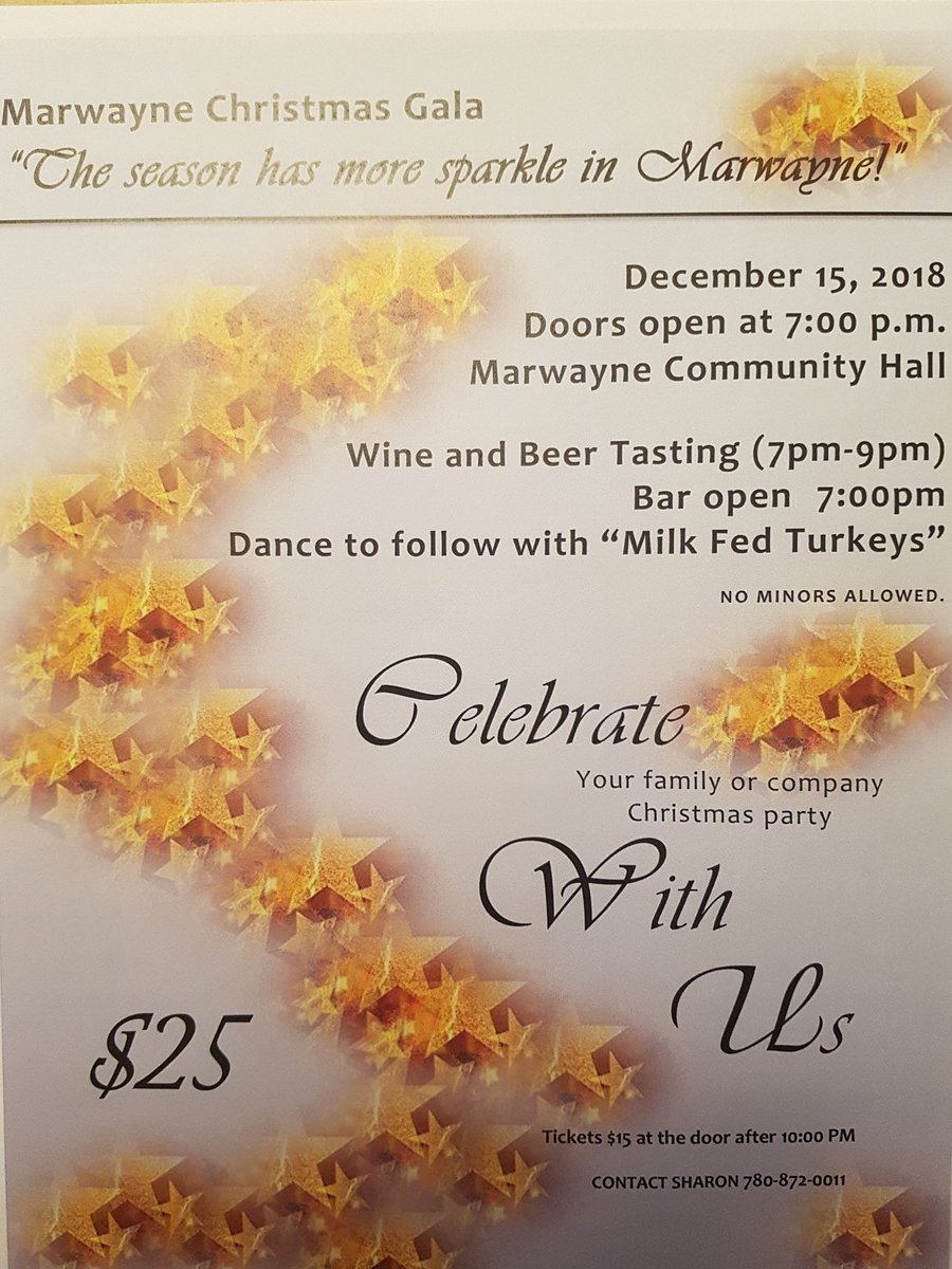 Tickets available at the door.  7:30 start for Beer @RibstoneCreek and Wine  tasting.  Marwayne @abagsocieties Come out Saturday evening for good time and dance to the Milk Fed Turkeys