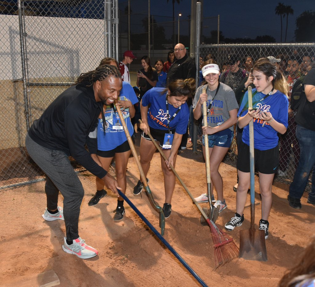 Had a great time helping the student athletes of @WestwoodMesa rehab their sports complex. Thank you @BashasMarkets and @ProcterGamble for making this all happen!