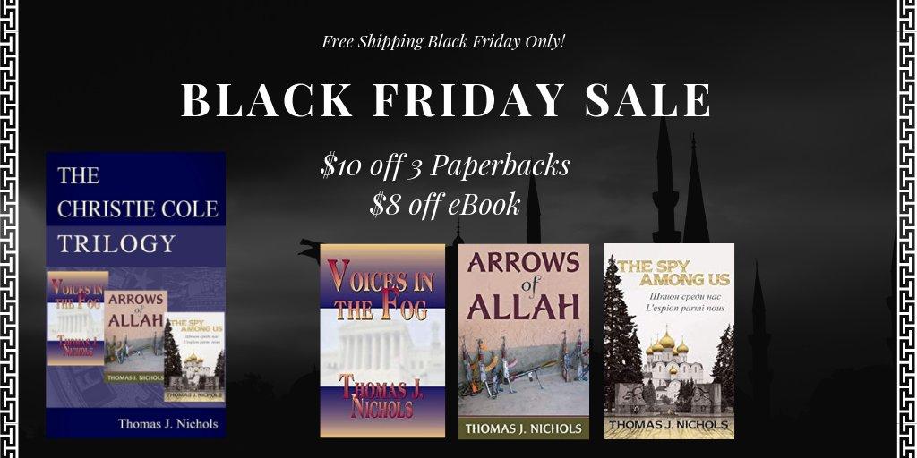 Book Sale! Don't miss this thrilling spy series written by ex Police Chief Tom Nichols. #FiveStars #BlackFridaySale #booksale Paperback: http://geni.us/ThomasJNichols #Ebook: http://geni.us/SocialTrilogy