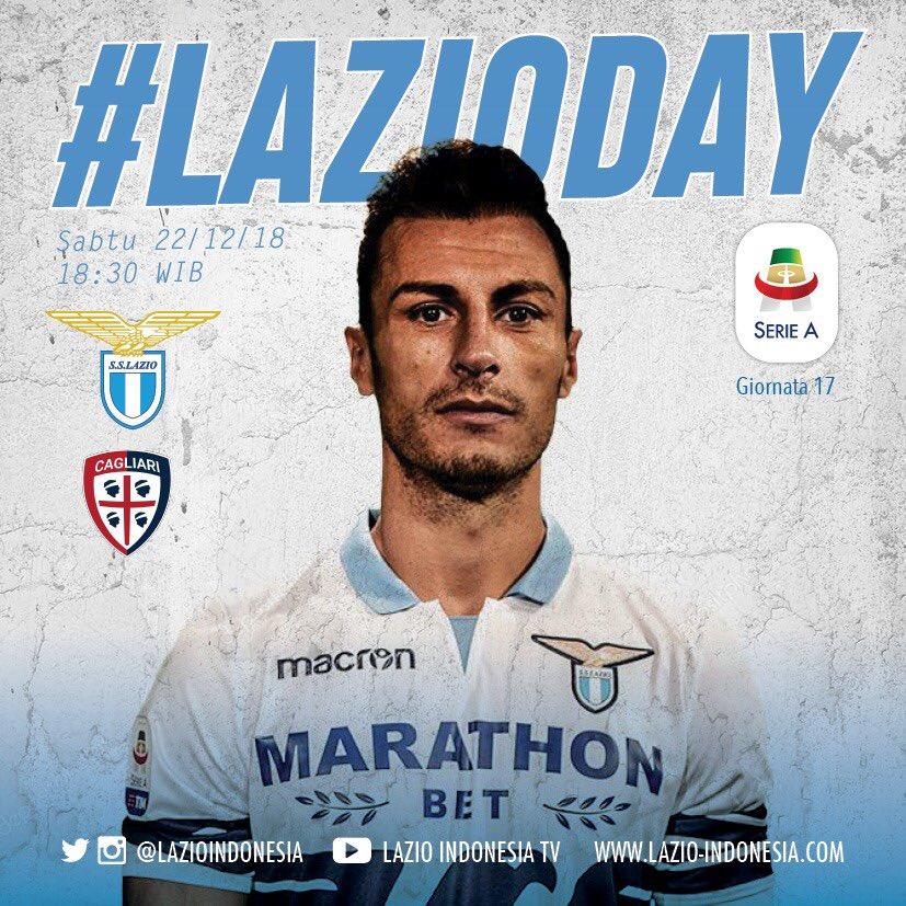 Weekend is #LAZIODAY  Sabtu, 22 desember 2018 18:30 WIB LAZIO Vs Cagliari - cek Info Nobar di Info Nonbar Lazio Indonesia [Official Group]  #LAZIOINDONESIA #LAZIOCagliari
