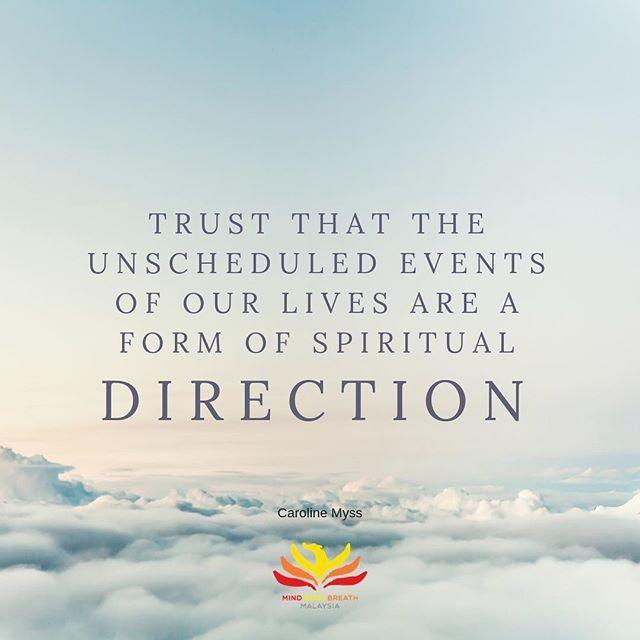 #qotd #spirituality #trust #everythinghappensforareason❤️ #carolinemyss #anatomyofthespirit #mindbodybreathmalaysia https://ift.tt/2zYOmhw