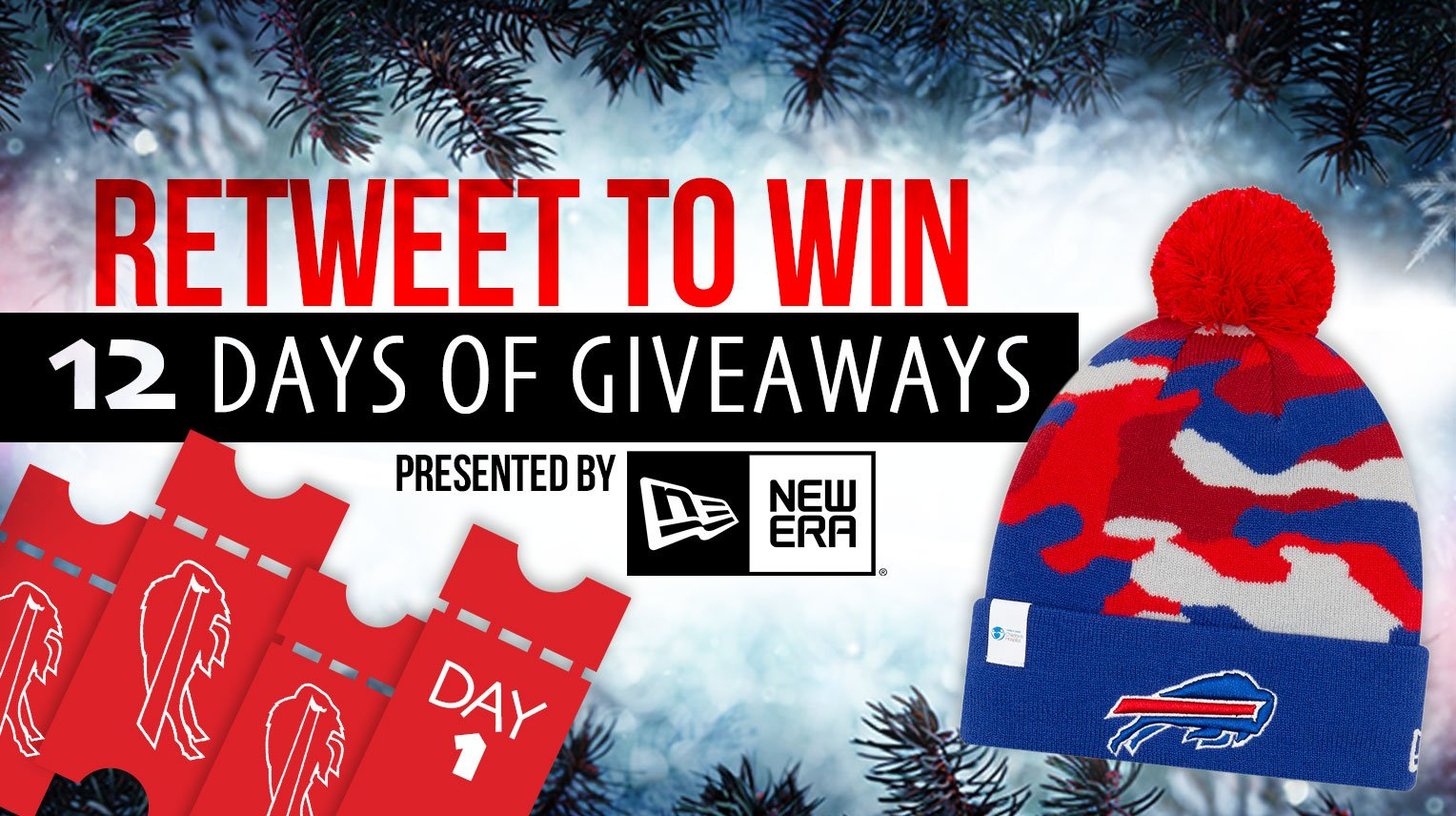 The @NewEraCap 12 Days of Giveaways starts NOW! ��  Rules: https://t.co/xrWvP1g1q3 https://t.co/QOag3adhKW