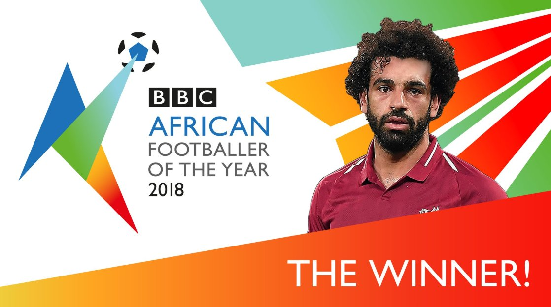 For the second year in a row, @MoSalah has been voted #BBC #African Footballer of the Year.   @LFC  #BBCAFOTY #MoSalah #CAF #AFRICA