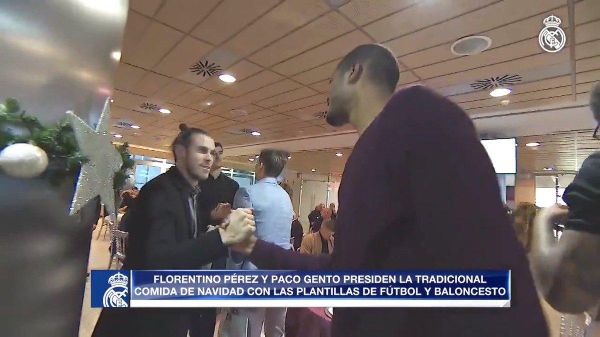 🎥🤝 Plenty of familiar faces at the Santiago Bernabéu. #HalaMadrid