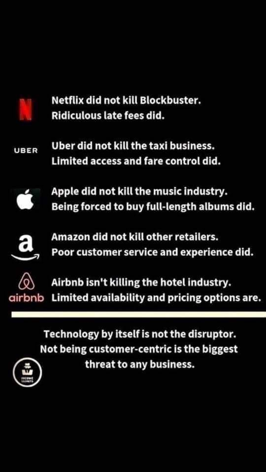 Real reasons for technology disruptions. So true :-)
