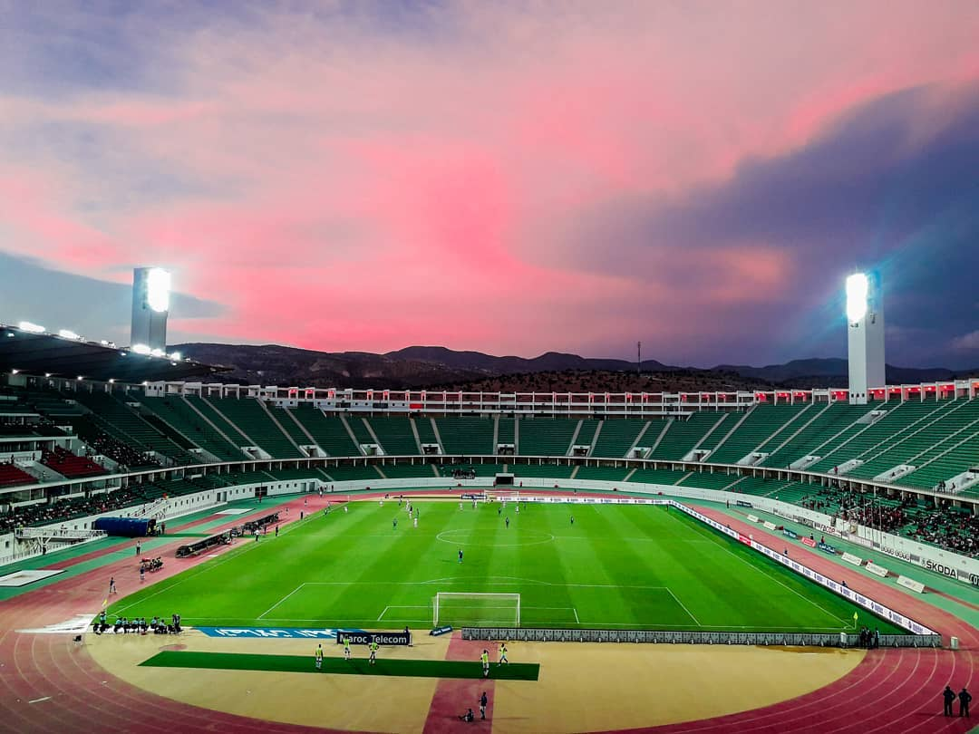 Lucky enough to take this Beautiful sunset view 😍 📷 before #HUSA kick-off  #CAF