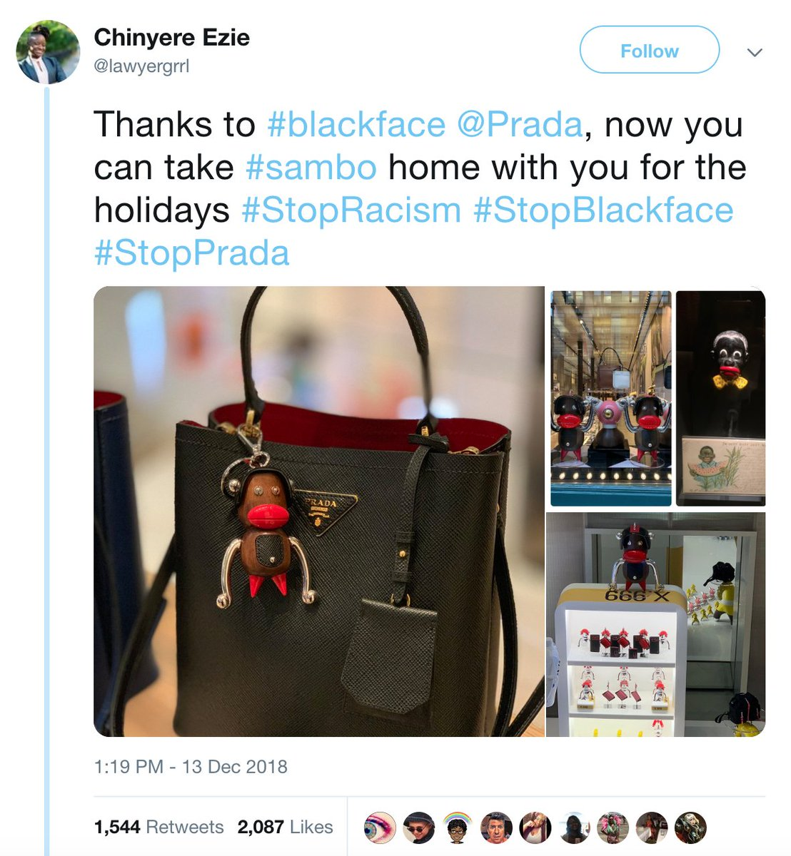 88c607ef44 Prada is facing backlash after the company was accused of using blackface  imagery in its new collection. The luxury brand issued a statement saying  it