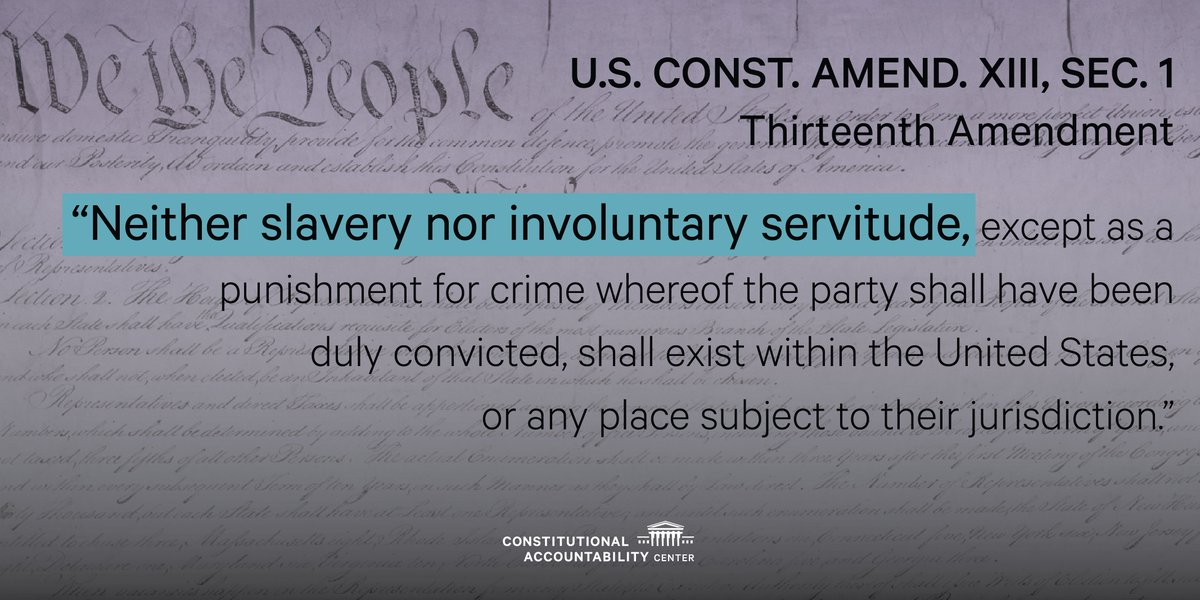 #TODAY marks the 153rd anniversary of the day the #13thAmendment went into effect, abolishing chattel slavery in the U.S. Learn more:  https://www. theusconstitution.org/constitutional -progress/ &nbsp; … <br>http://pic.twitter.com/hc9br728lr