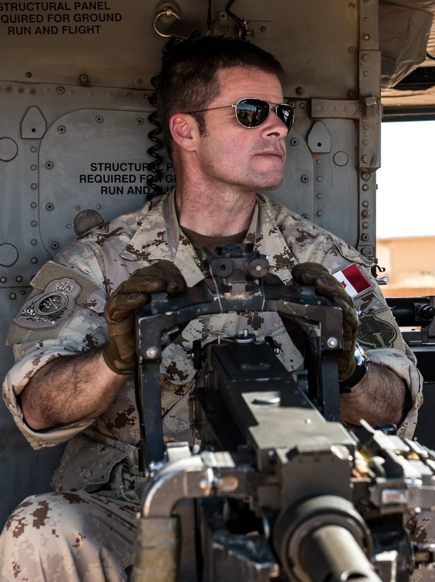 Check out our #PhotoOfTheWeek on Instagram: http://ow.ly/lBf530mZfhj  Lieutenant-General Rouleau prepares for a helicopter flight on a CH-146 Griffon at Camp Castor in Gao, Mali. #CAF#RCAF #StrongSecureEngaged #OpPRESENCE