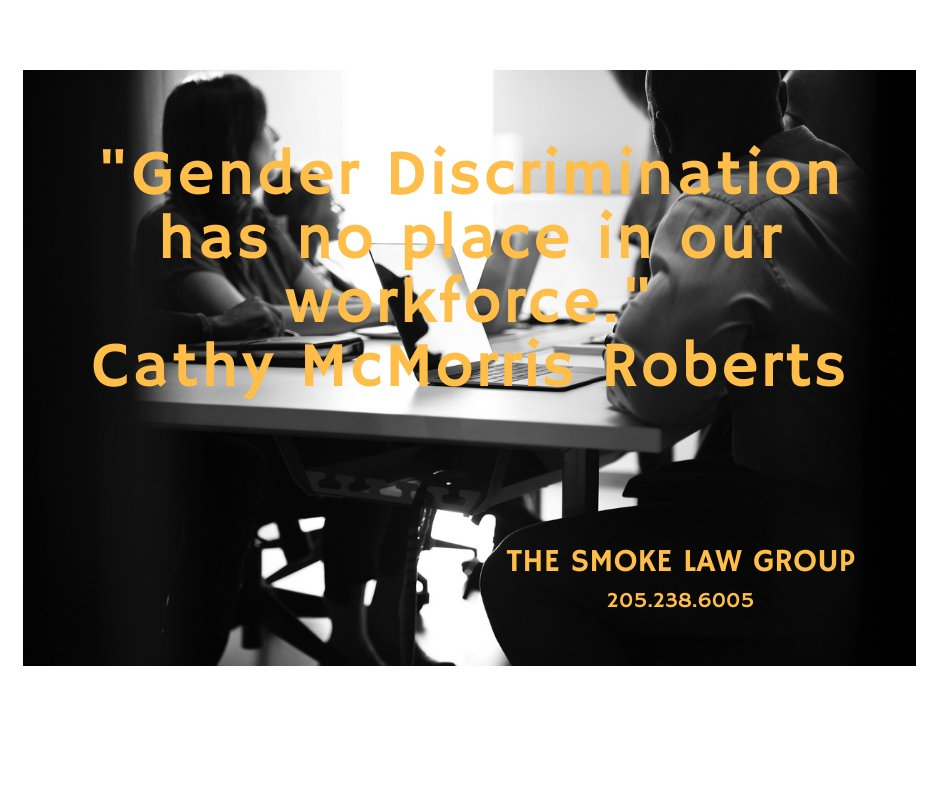Are you a victim of gender discrimination while on the job? Contact THE SMOKE LAW GROUP for a free consultation at 205.238.6005 #thesmokelawgroup #needanattorney #problemsatwork #discriminationonthejob #birminghamlawyer