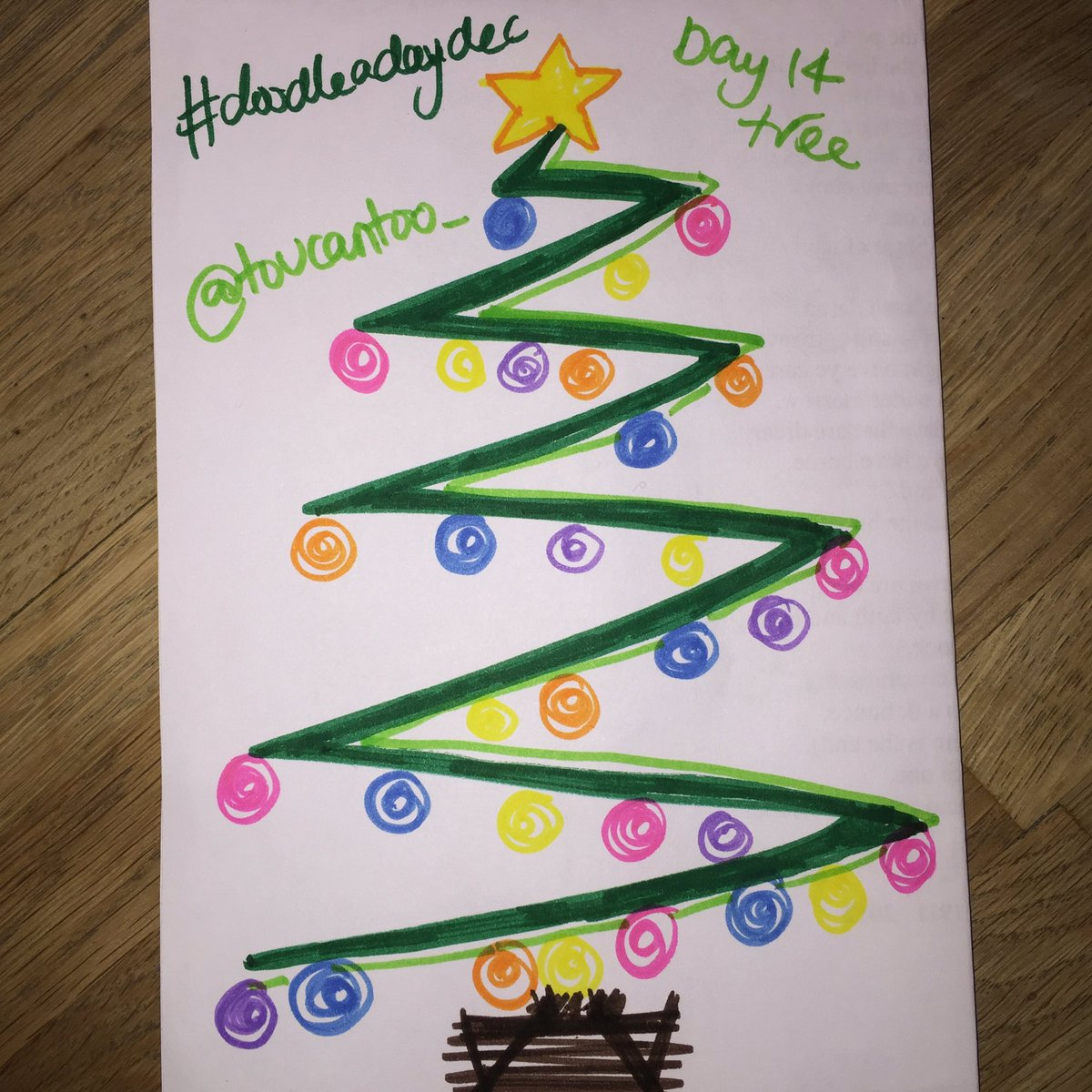 Natasha Blok Happiness Coach On Twitter Day 14 Doodleadaydec Tree Toucantoo Make Your Christmas Tree Look Like Zumagamers Zumagame Christmastree Doodle Christmas Https T Co Tj2m4sh1hh