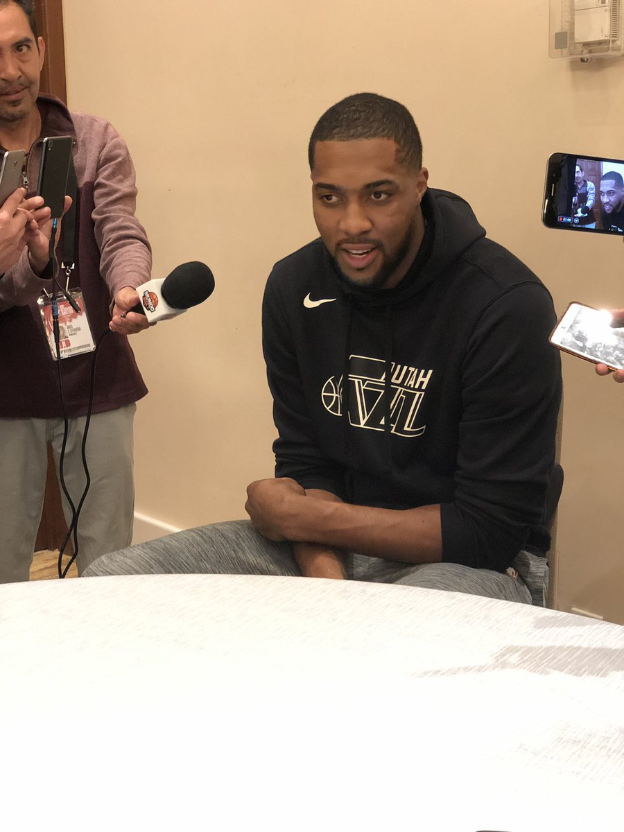 """Fav: """"I'm just happy to be here for the first time.""""  #NBAenMèxico"""