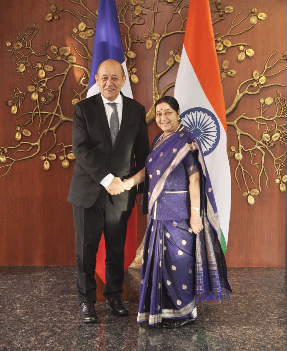 India, France agree to fight terrorism jointly: Sushma Swaraj