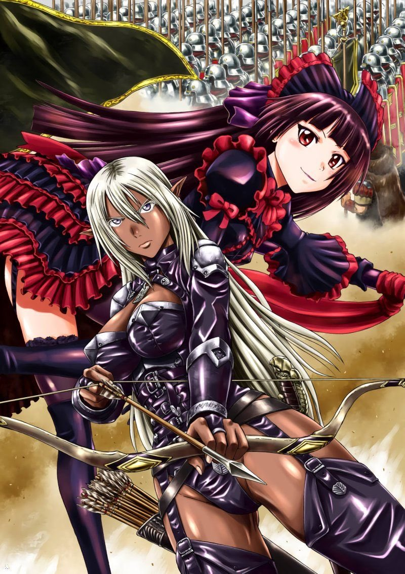 My two favorite waifus in GATE. Apostle Rory Mercury and Dark Elf Yao Ro Dushi. I got pretty far into the manga. I'm almost caught up to where the anime ended, but there were extra stories and events in between.