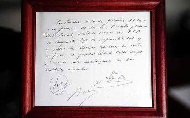 ❤️ 18 years ago today, Messi signed his first Barcelona contract at the age of 13, on a napkin. And the rest  is history. A perfect gift to the footballing world from FC Barcelona. @90minutes_more @FCBarcelona @fundacionmessi #Messi #Barcelona #GOAT #Sp