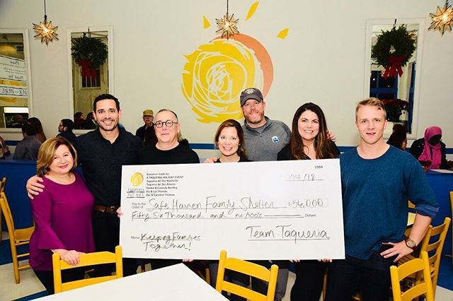 Thanks everyone that came out to support @safehaventn family shelter at our @taqueriadelsolnash event. Raise over 56k for families here in need in middle Tennessee. so much appreciation for the staff at @safehaventn and what they do to keep the whole fam… instagram.com/p/BrY8rUhld_-/