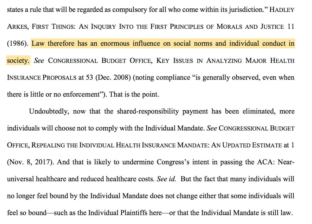 9 Judge OConnor Also Reaches An Important Point That Many Critics Reject A Mandate Without Penalty Still Has Enormous Influence On Social Norms