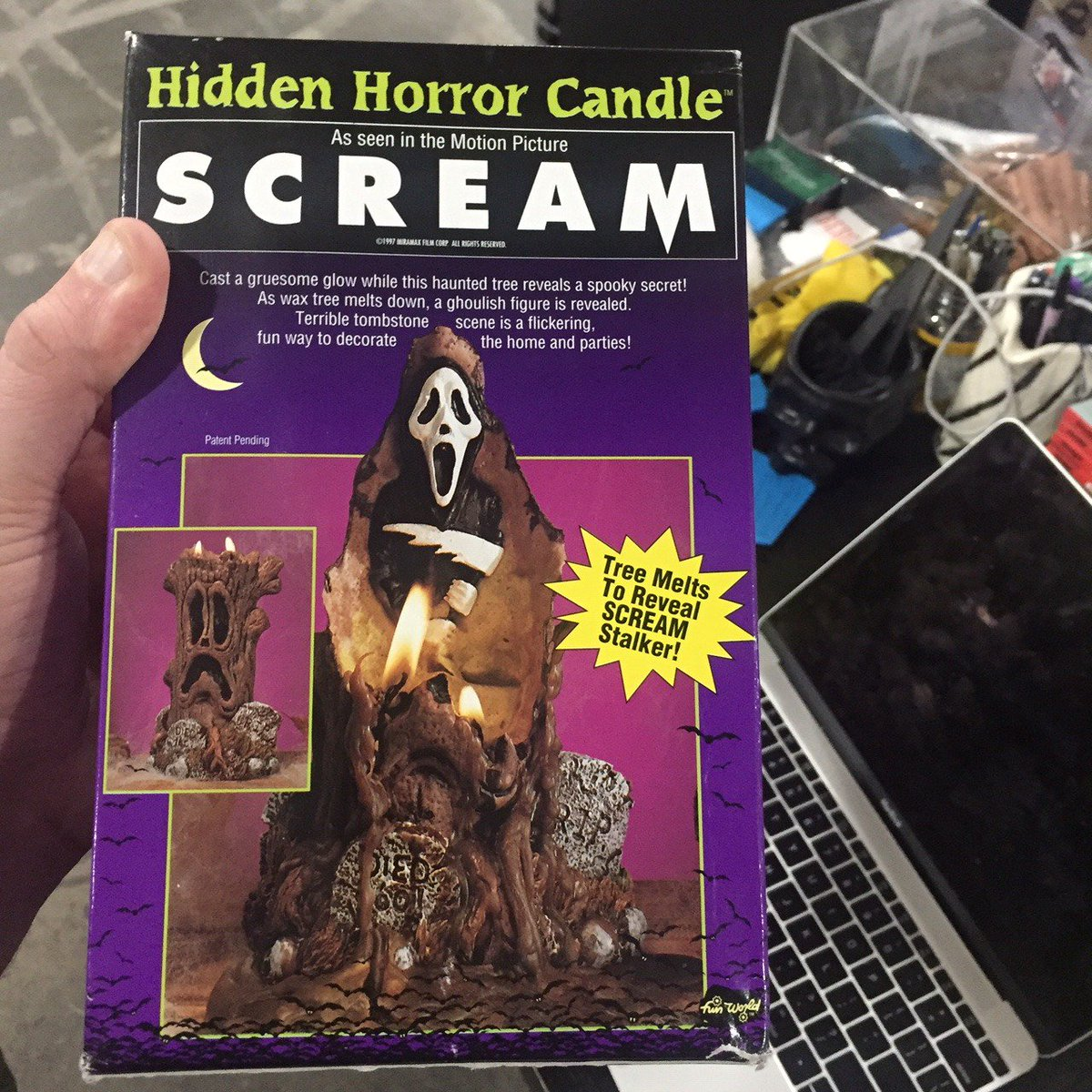 Scream Hidden Horror Candle