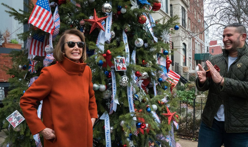 "Humbled to have had the chance to visit the ""Pelos-Tree"" today — honoring our newly elected House Democratic women! Together, we can return a respect for our common humanity & our environment to our country. You all inspire us each & every day! #ForThePeople"