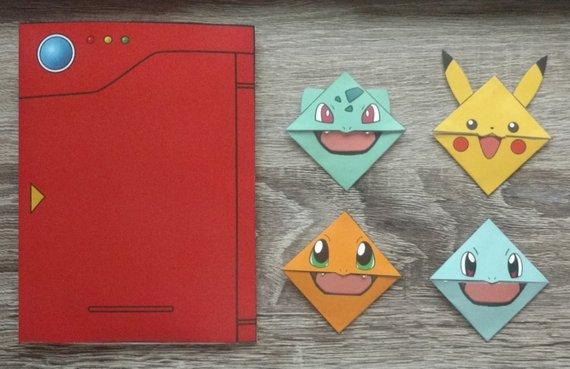 Easy Pikachu Bookmark Corner - Pokemon - Origami | pap[er crafts ... | 369x570