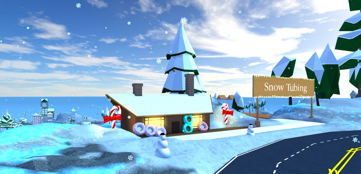 Robloxian Highschool Old Map Robloxian High School On Twitter It S Finally Winter Explore Our Snowy Map Go Down The Hill In An Innertube Or Race Around On Our New Snowmobile Redeem The Code Snowfall For