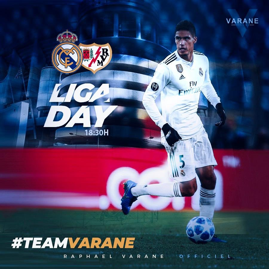 Raphaël Varane's photo on Rayo Vallecano