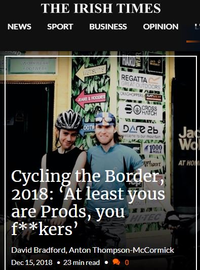 Today we launch a swanky new look-and-feel for our best, most in-depth and long-form @IrishTimes journalism. In this piece David Bradford and Anton Thompson-McCormick cycle the @BorderIrish and find more than they bargained for  https://t.co/YohyBCTWI0