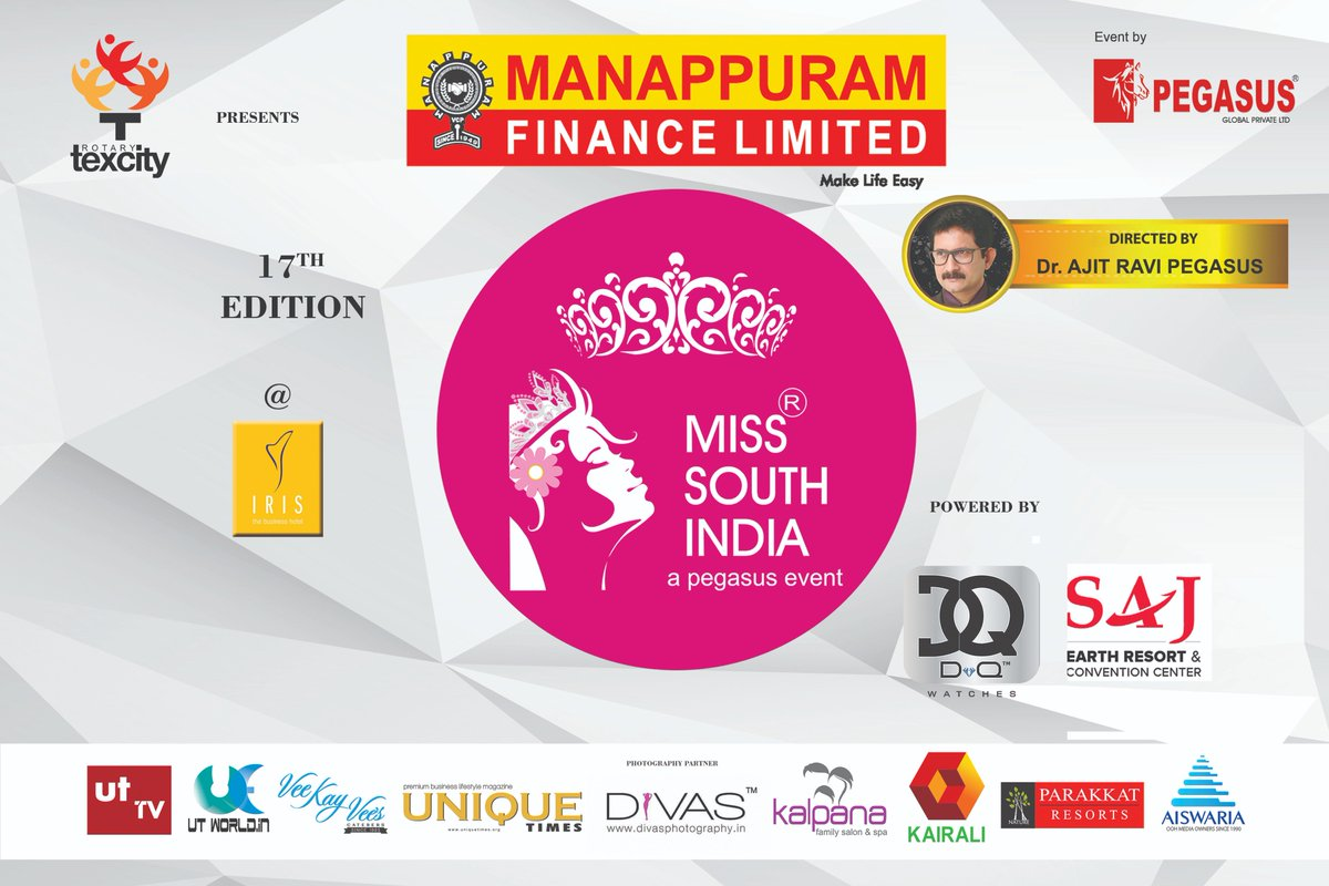 Miss South India On Twitter 17th Edition Of Miss South
