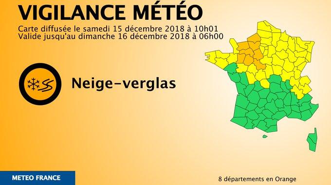 RTweet VigiMeteo : 🔶 8 dpts en #vigilanceOrange Restez informés sur Photo