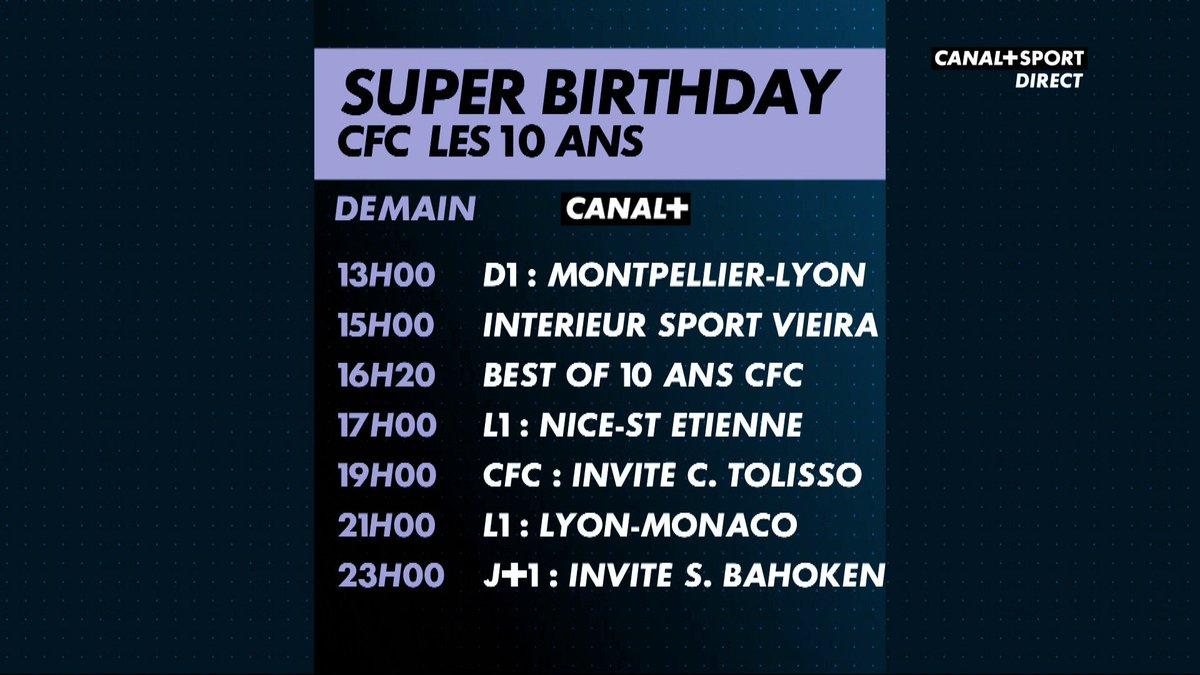 canal football club on twitter au programme de ce dimanche exceptionnel qui vous attend sur canalplus le cfc fte ses 10 ans chaque jour