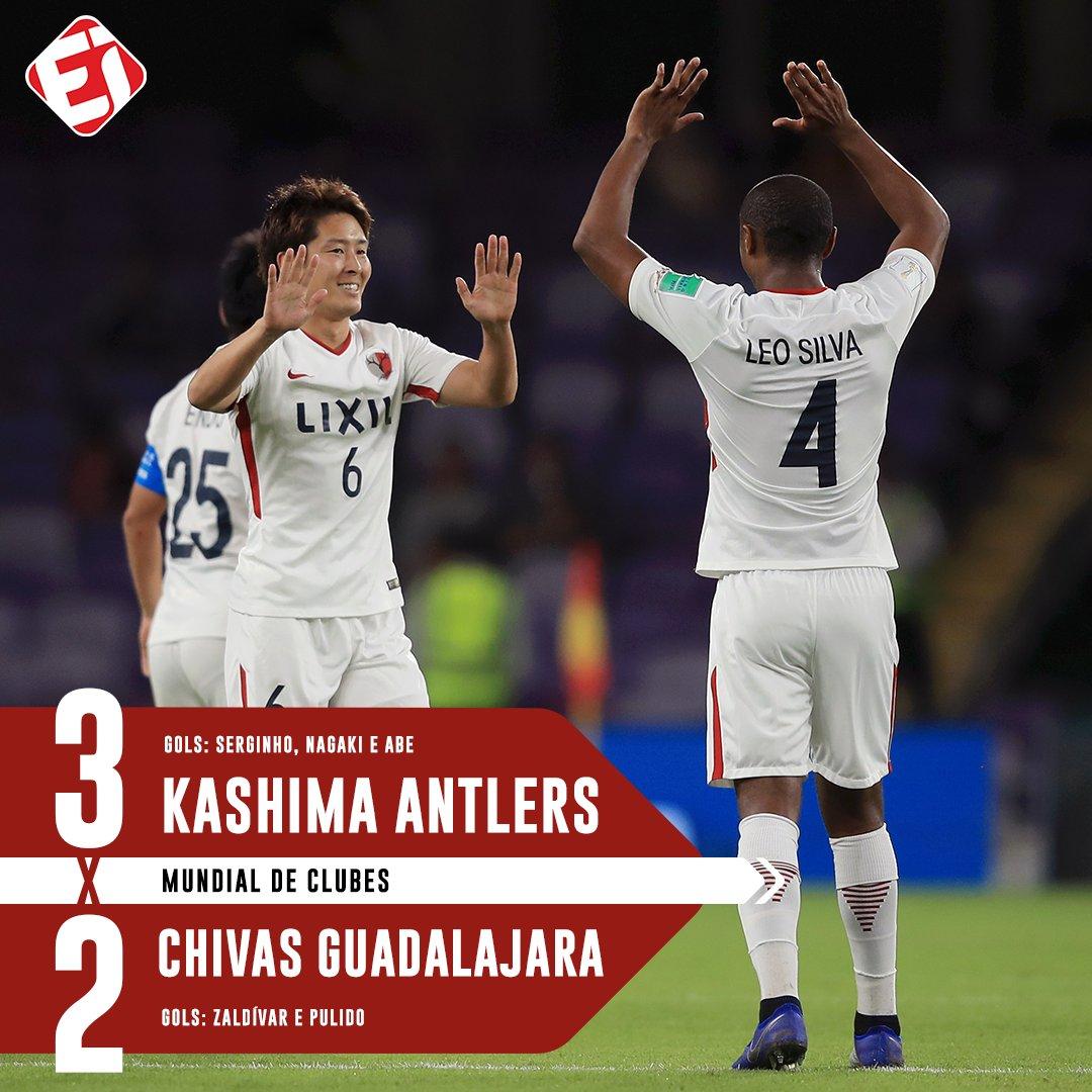 FIIIIM DE JOGO! De virada, o Kashima Antlers vence o Chivas e será o adversário do Real Madrid nas semifinais do Mundial de Clubes da FIFA!