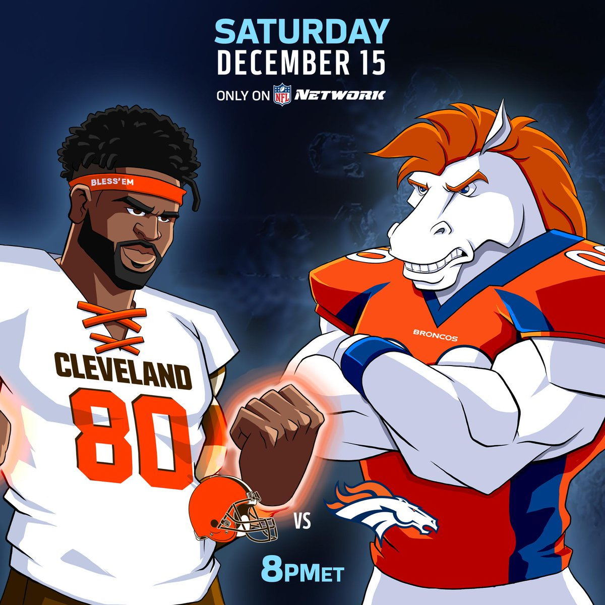The @Browns! The @Broncos!  Prime time on a Saturday! 📺: 8pm ET. Only on @nflnetwork. #CLEvsDEN