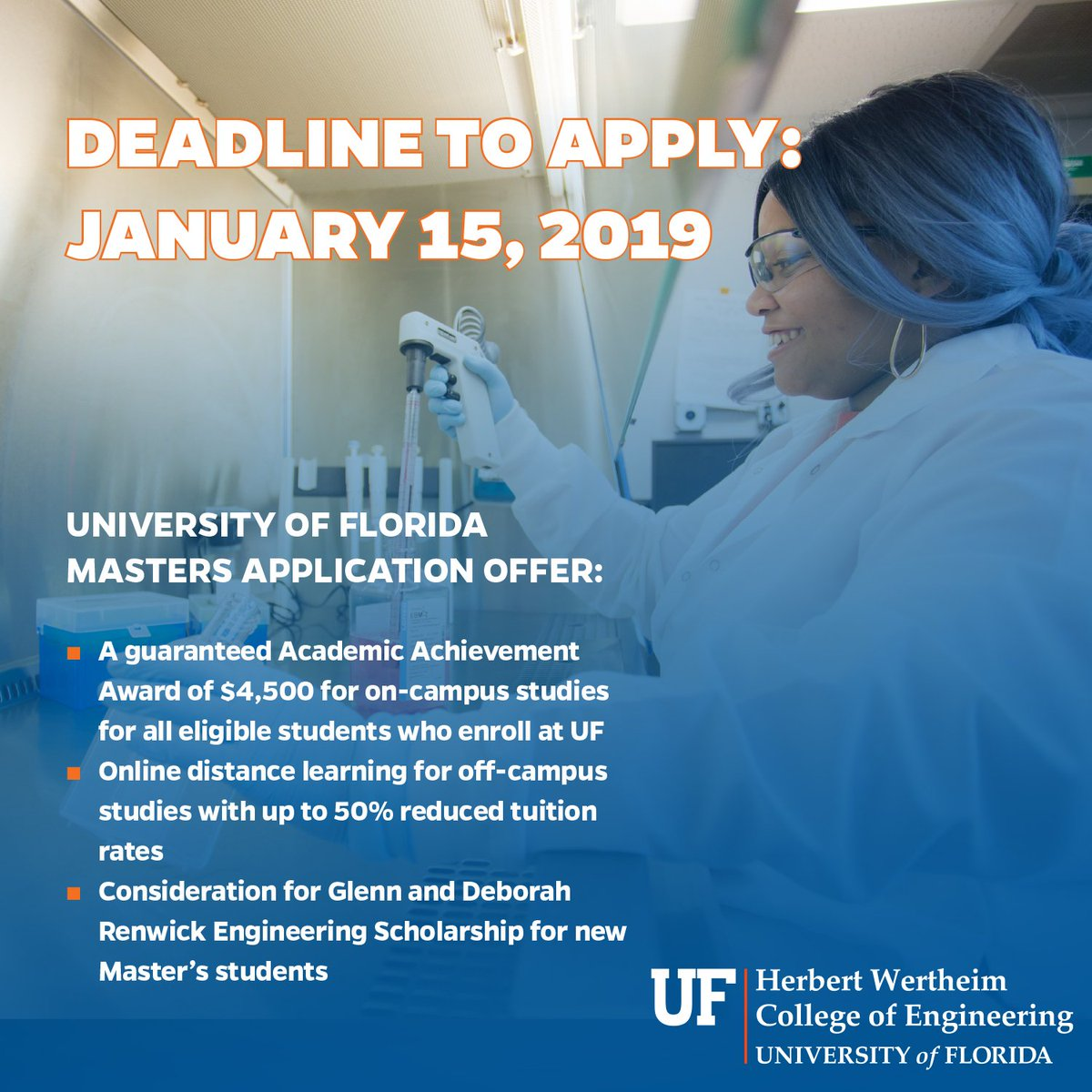 Uf Application Deadline >> Uf Chemical Engineering On Twitter The Deadline To Apply