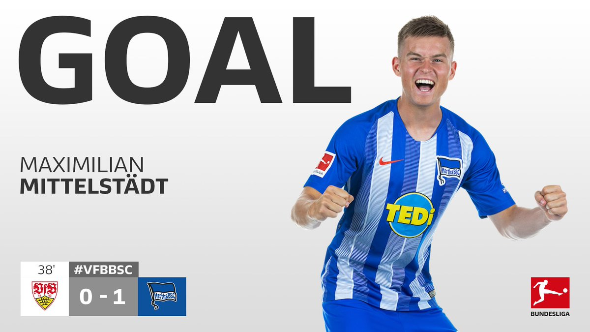 Excellent build-up play followed by a touch of luck and Hertha take the lead in Stuttgart  #VfBBSC <br>http://pic.twitter.com/acxdG6L3nw