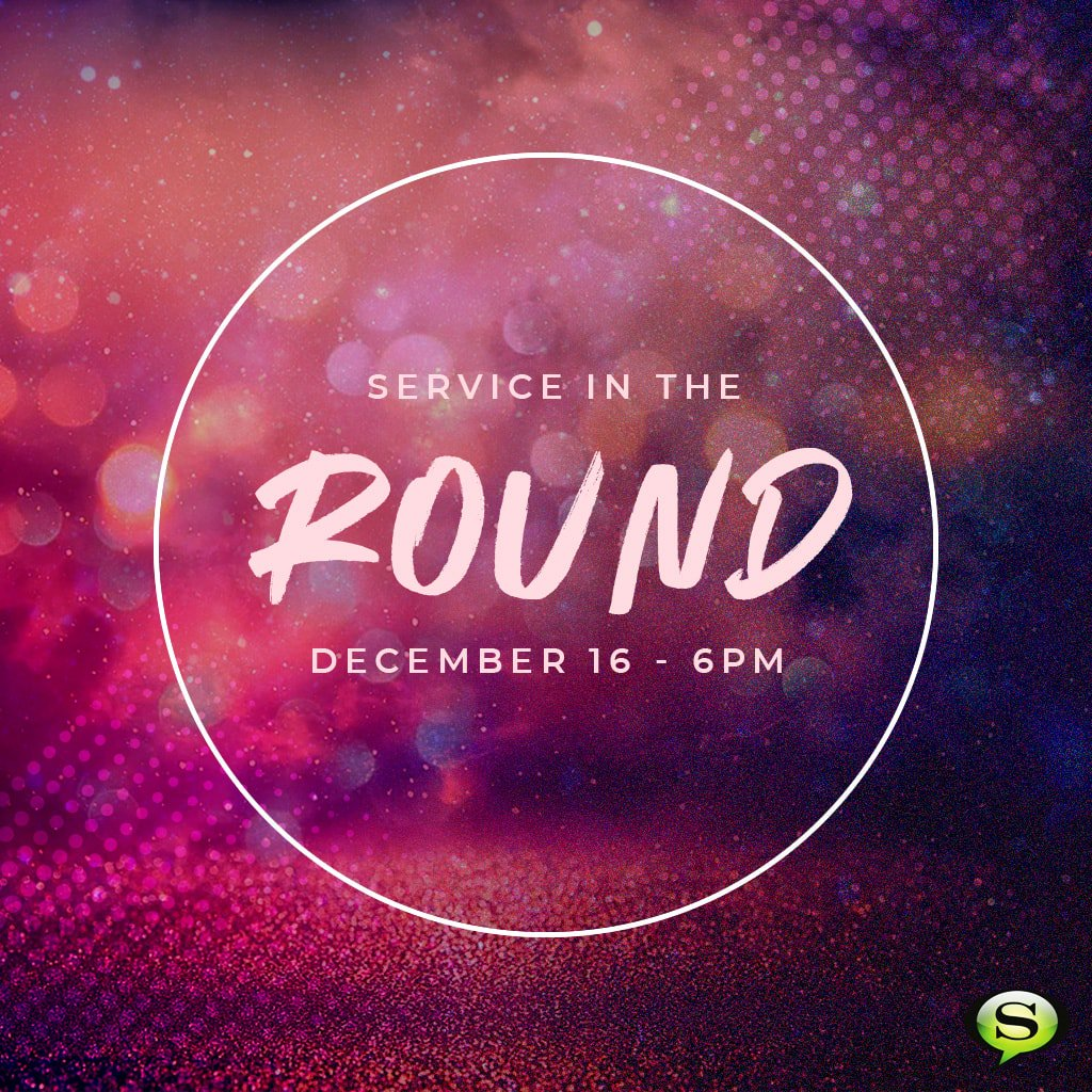 Don't forget! Our special Service In The Round Christmas Service is this Sunday night at 6pm. (We will also celebrate the season with our morning services in the round.) You won't want to miss it! https://t.co/y3pHP83vzW