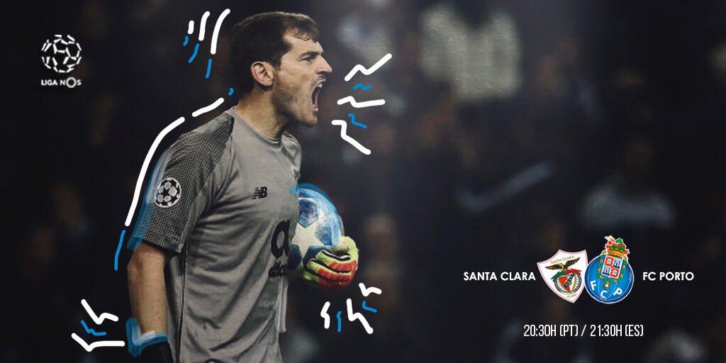 Día de partido. #SomosPorto 🔵⚪  🆚 Santa Clara  ⏰ 20:30 🇵🇹/ 21:30 🇪🇸   🏟 Estadio de São Miguel