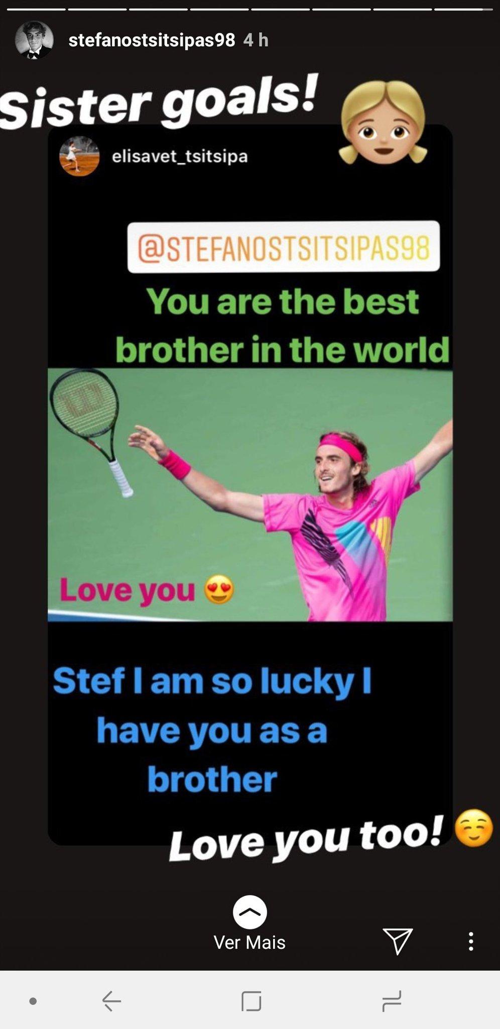 Stefans Of Tsitsipas On Twitter That Sibling Love On Instagram