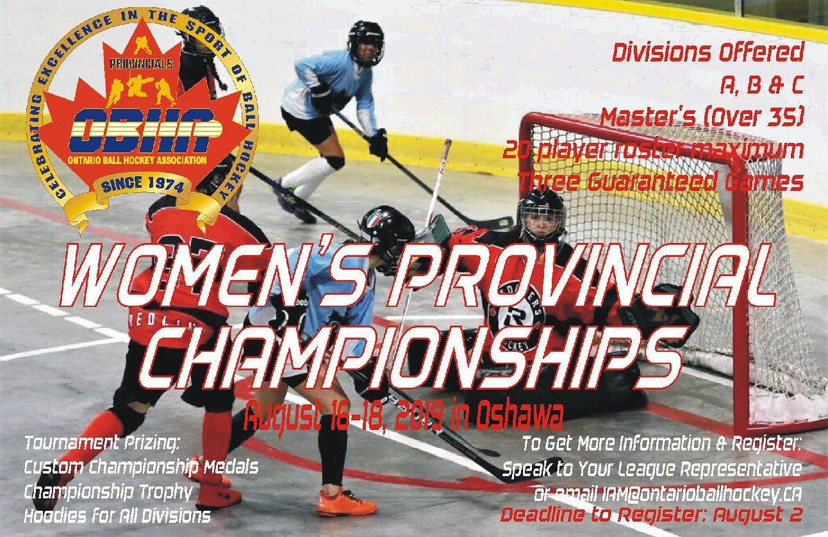 Ontario Ball Hockey On Twitter The 2019 Women S Provincial