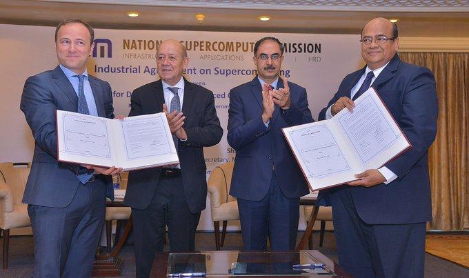 Signature de notre accord #HPC à New Dehli avec le Ministre des Affaires Etrangères...