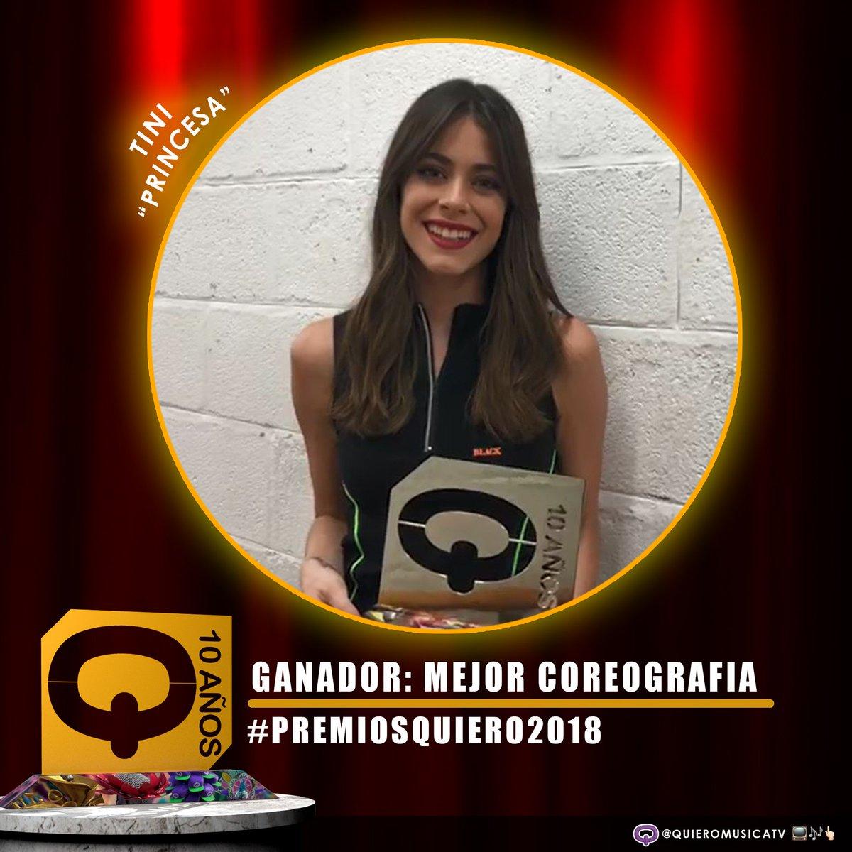 Tini wygrała nagrodę #PremiosQuiero2018 w kategorii #MejorCoreografia