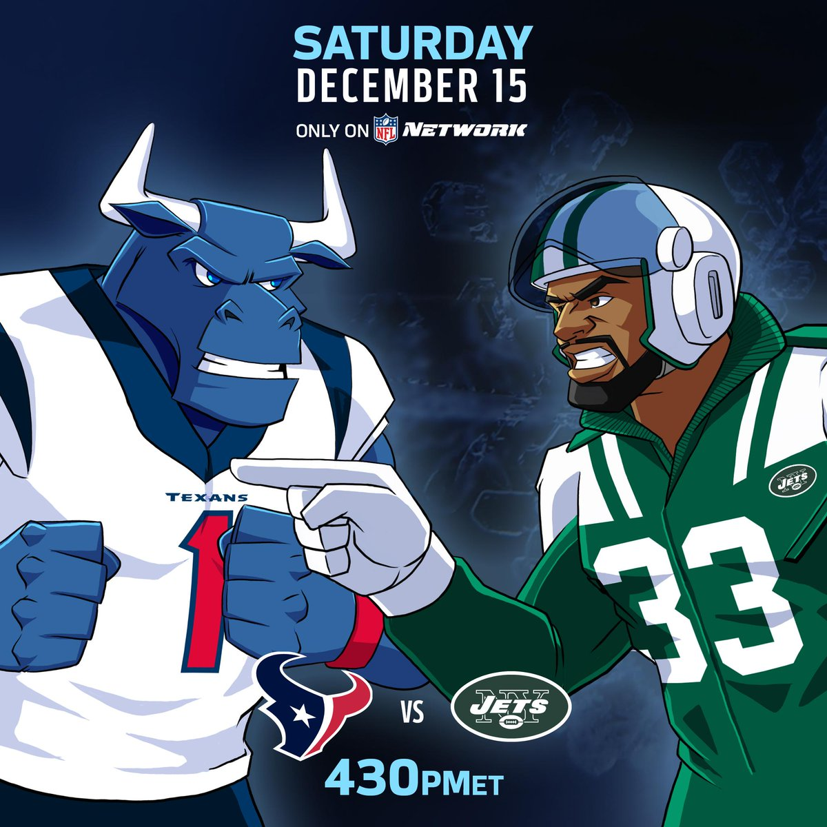 The @HoustonTexans. The @nyjets.  Football on a Saturday! 📺: 4:30pm ET. Only on @nflnetwork.