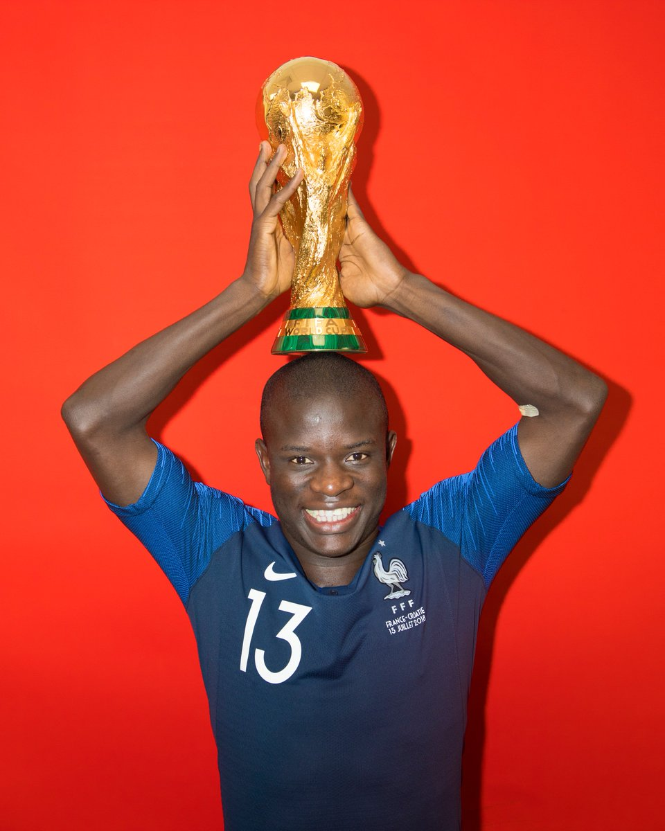 'When we won th #WorldCupe  & the camera was moving across, some of the players knew that I don't like to have too much attention on me, so they pushed me forward & were singing. It was a good moment. '  🇫🇷   🗣️ @nglkanteThe Week in Quotes👇 https://t.co/Yv2C3BWMfN