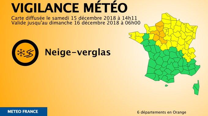 RTweet VigiMeteo : 🔶 6 dpts en #vigilanceOrange Restez informés sur Photo