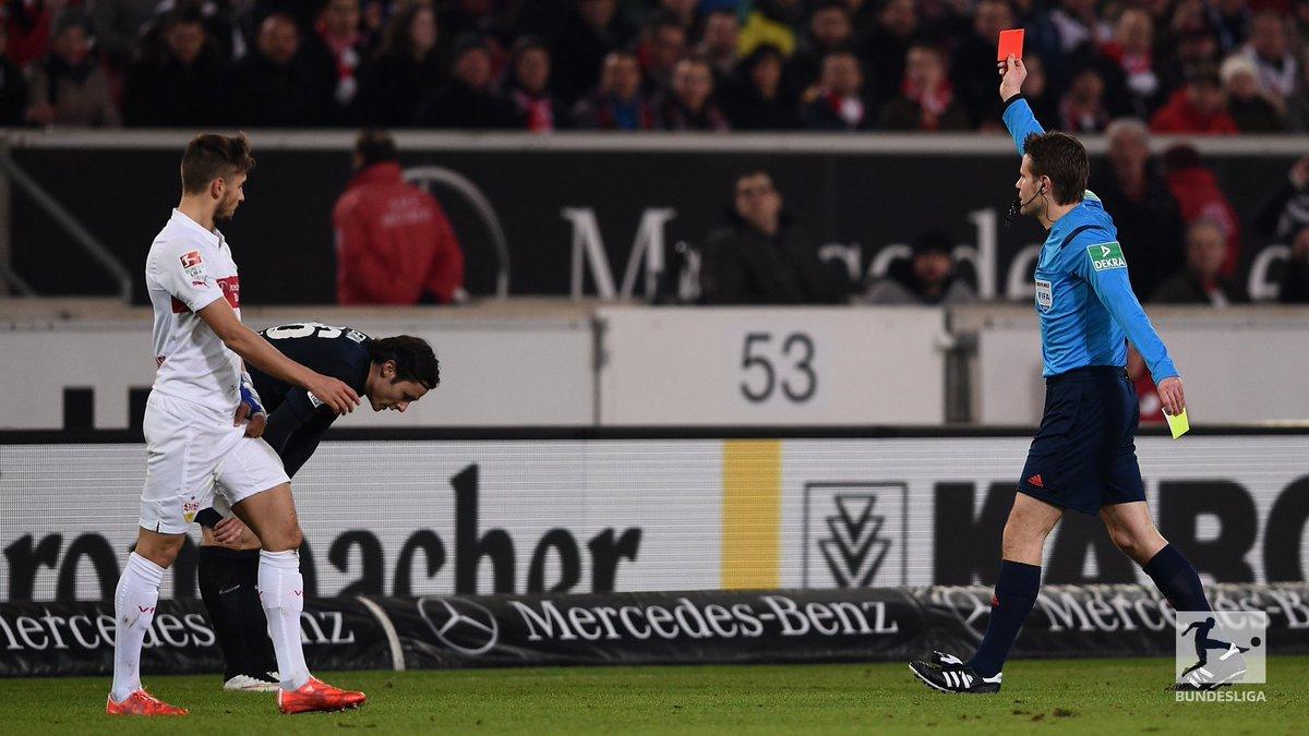 Stuttgart  Hertha   Last 9 games = 6 red cards   #Bundesliga #VfBBSC <br>http://pic.twitter.com/wRMxPzYgnX