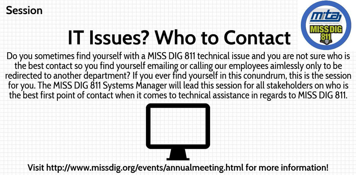 #MISSDIG811 2019 Annual Meeting session information is now available! Register at…
