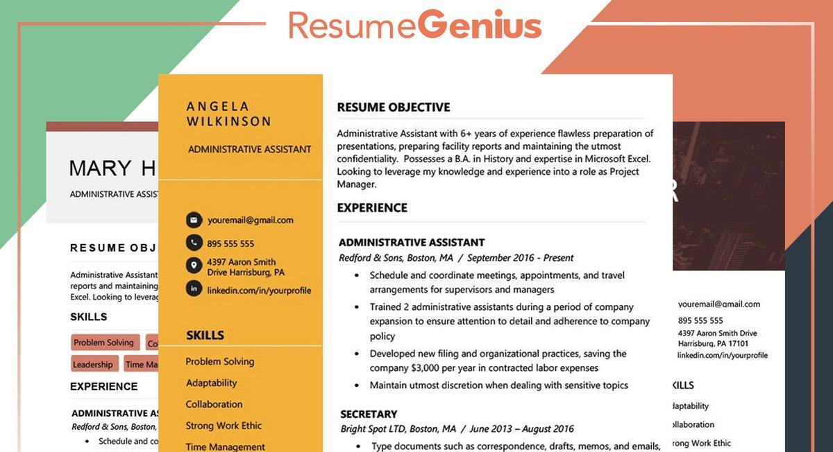 Resume Genius On Twitter 40 Modern Templates For