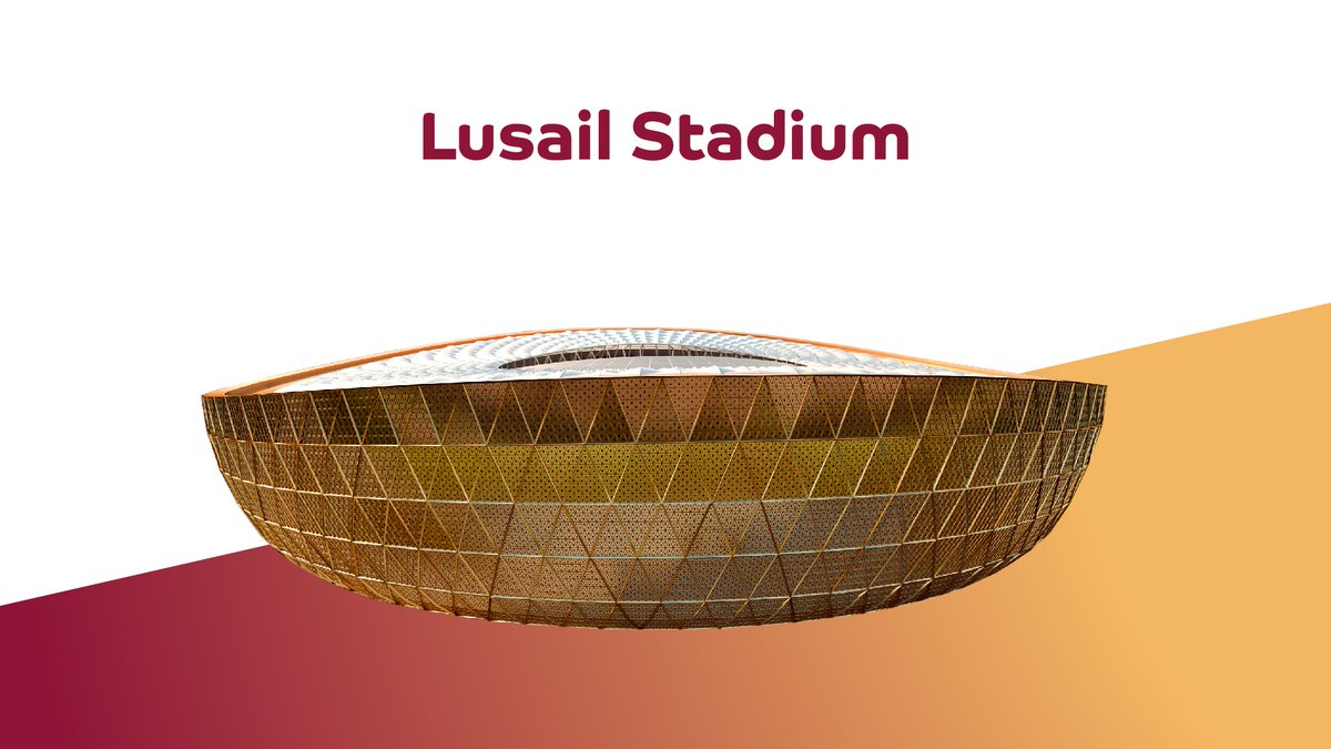 It is official! We are proud to reveal the design of #LusailStadium!  This stadium will host the opening match and final during #Qatar2022 – the first World Cup in the Arab world.   #seeyouin2022