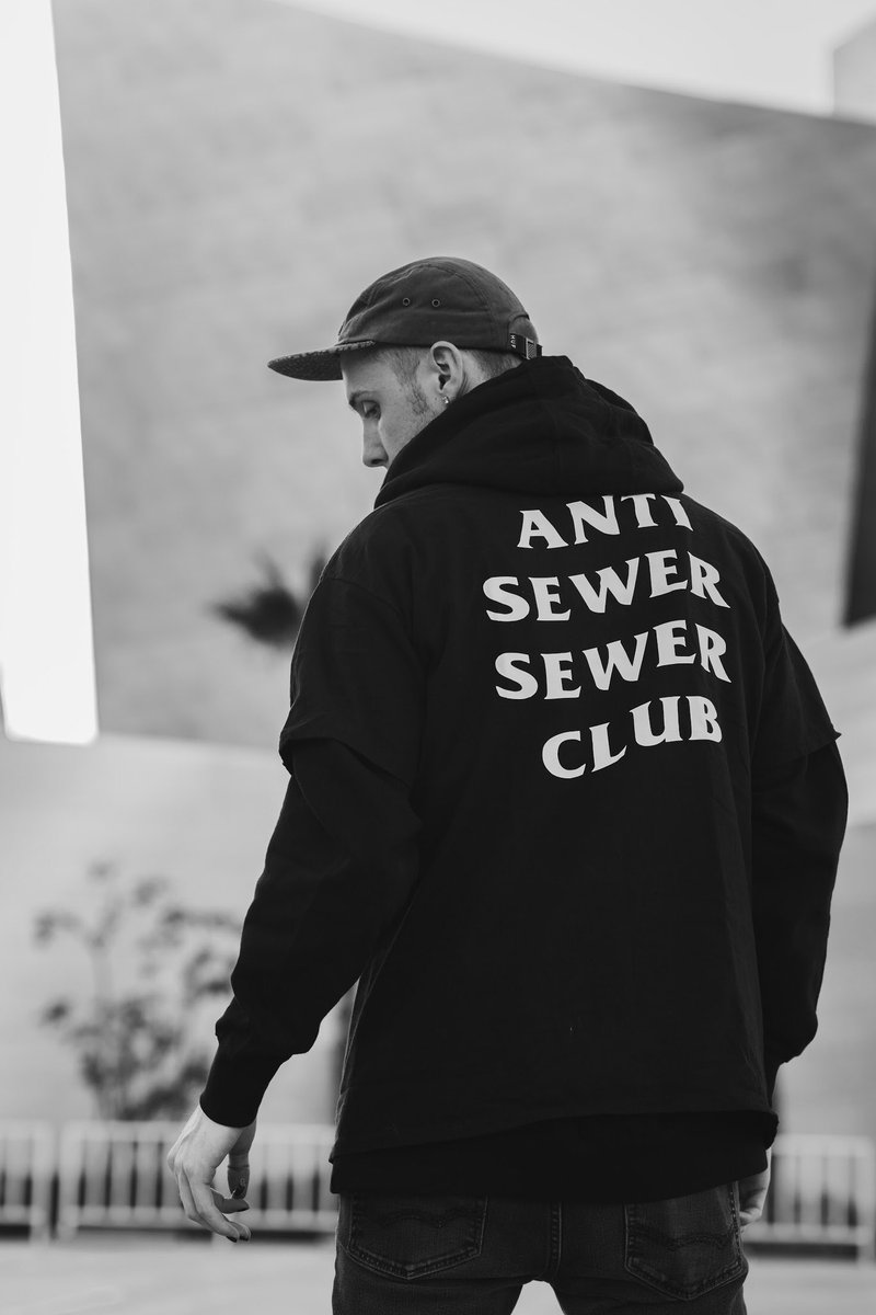 ANTI SEWER SEWER CLUB  -Plain Print T-shirts ($30) -Glow-In-The-Dark Print Hoodies ($50)  (Font will be in Sewer Sessions style font)  NOW TAKING PREORDERS, THERE IS A VERY LIMITED STOCK AND THESE WILL GO FAST.  Messege me if you want one!