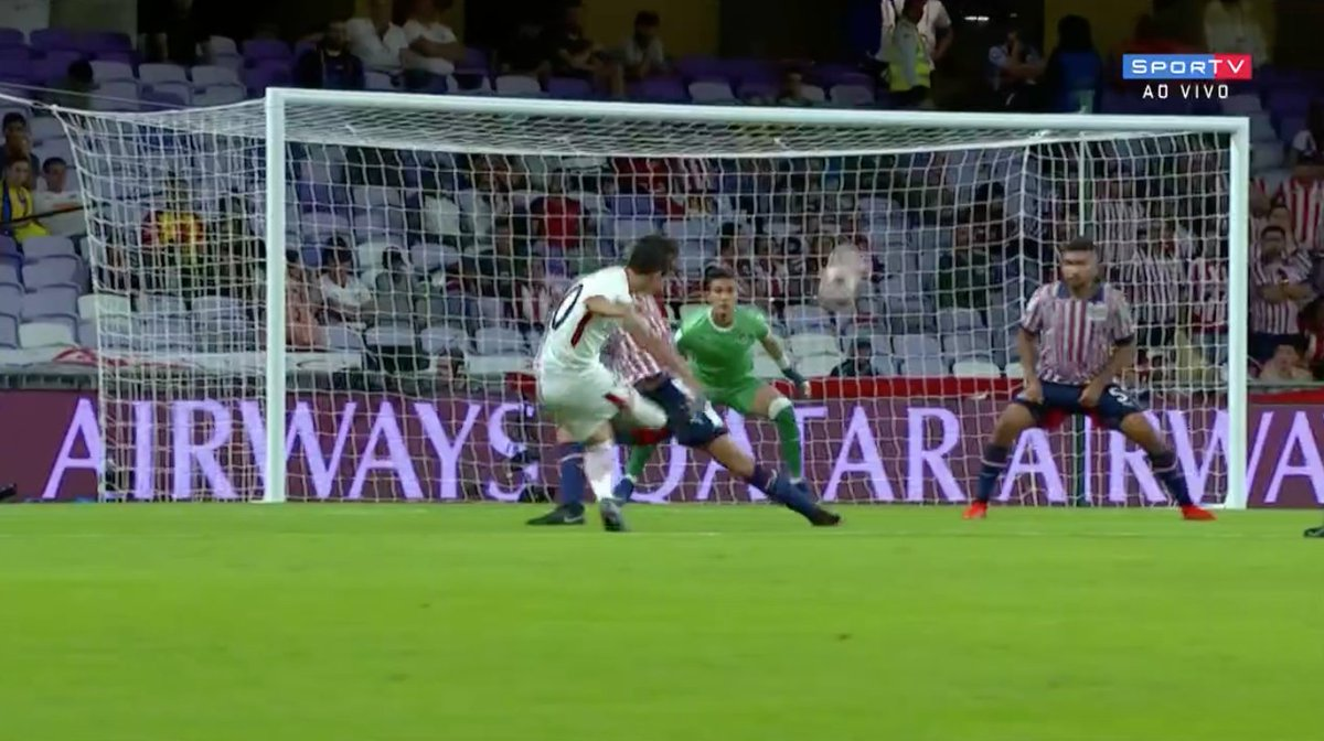 GOLAAAAÇO! E o Kashima vai se encaminhando para enfrentar o Real Madrid...  #MundialDeClubesNoSporTV