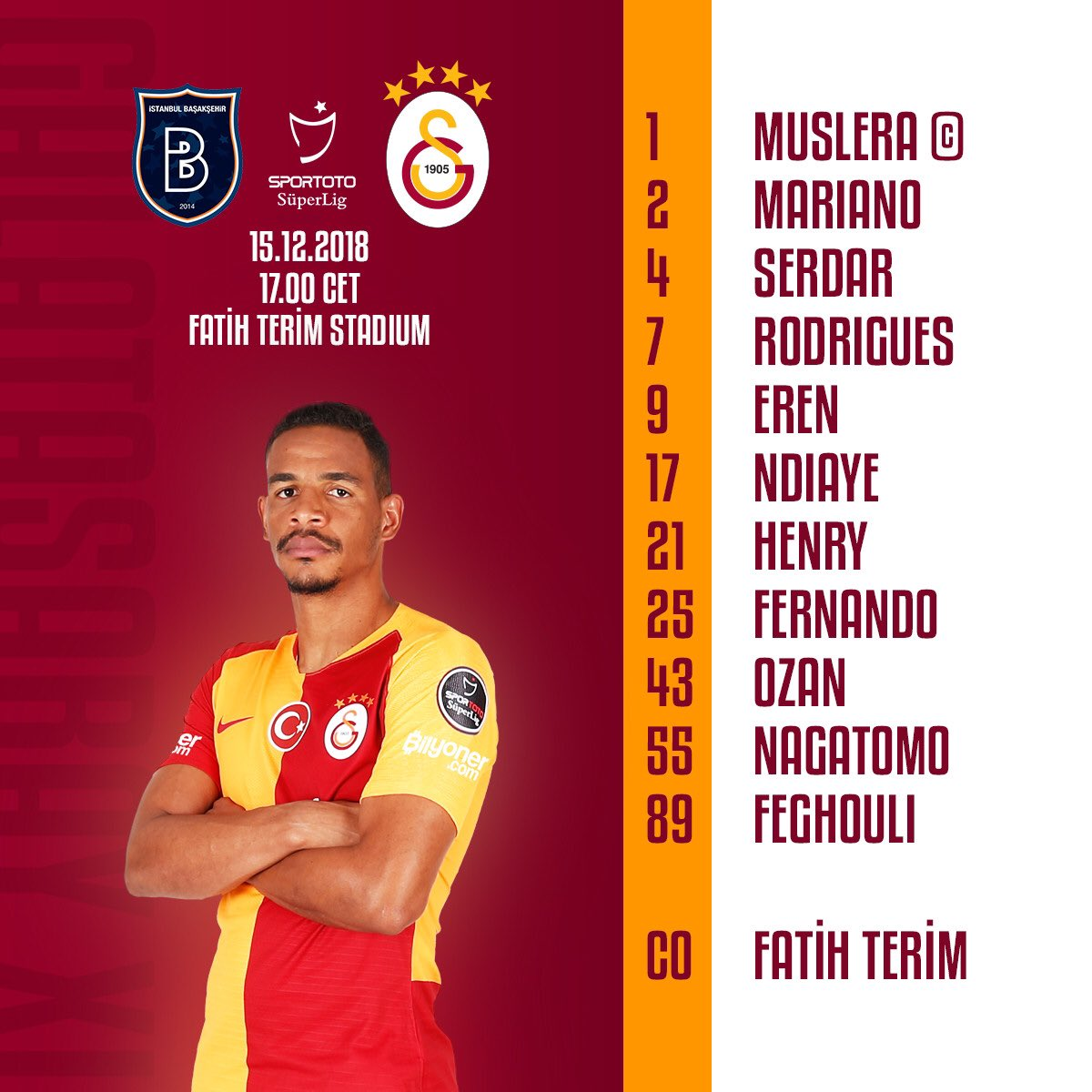 Starting eleven of the night